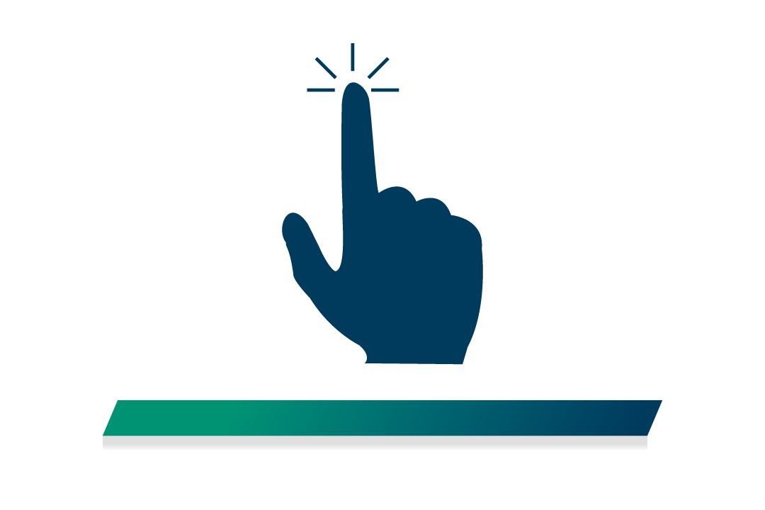 Icon of a finger tapping the screen